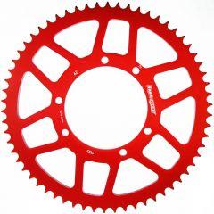 Supersprox Takaratas, Punainen, 58 hammasta (420), Ø100mm, Fantic 50cc