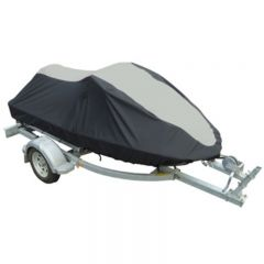 OS JET SKI COVER -2 TONE- BLACK/GREY 3.4M - 3.7M