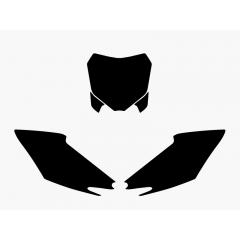 Blackbird numeropohjat musta CRF250 14-15/CRF450 13-15
