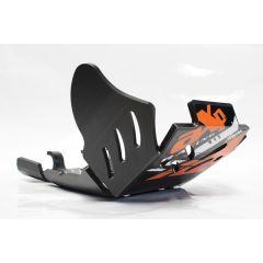 AXP Xtrem HDPE Skid Plate Black KTM EXCF250-EXCF350 17-