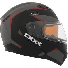 CKX Kypärä, avattava Flex RSV Sähkövisiirillä, Control punainen