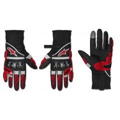 Alpinestars Hanska GP X v2 Musta/Punainen fluo