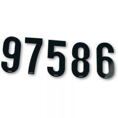 UFO Numerosarja 15cm Musta, nr 0-9, 10 kpl jokaista
