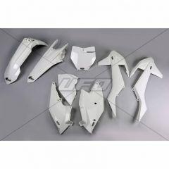 UFO Muovisarja 5-osainen Valkoinen 047 KTM SX/SXF125-525 16-18