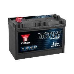 Yuasa M31-100S Active Marine Start Battery 12V 100Ah 800A Huom.Rullakkorahti