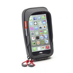 Givi älypuhelin/GPS tasku Iphone 8, 7, Galaxy S6 ohjaustanko kiinnityksellä