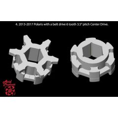 "Avid vetopyöräpari Polaris Beltdrive, centerdrive 3.5"" 6 hamp"