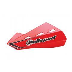 Polisport Qwest käsisuojat + kiinnikesarja punainen CR04