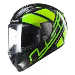 LS2 Kypärä FF323 ION musta/ Fluo vihreä