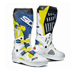 SIDI Atojo SRS MX Saapas keltainen fluo/valkoinen/sininen