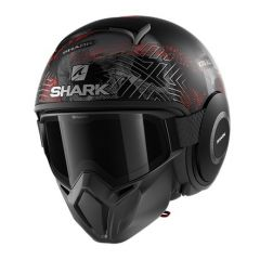 Shark Street Drak Krull, matta musta/punainen