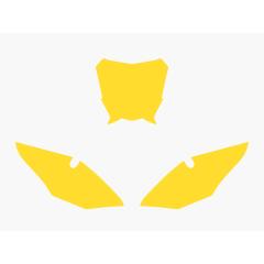 Blackbird numeropohjat keltainen CRF450 17-