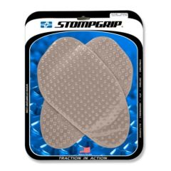 Stompgrip Universal Large Street Bike Tank Grips - Volcano : Clear