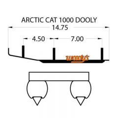 """Woodys Dooly Arctic Cat Trail Ohjausrauta 6"""" 1kpl/pakkaus"""