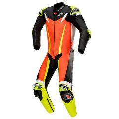 *Alpinestars Nahkapuku GP TECH v3 TECH AIR Comp Punainen fluo/Musta/Keltainen fl
