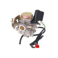Kaasutin, 18mm, Metallikansi, Kiina-skootterit 4-T 50cc / Kymco 4-T / SYM 4-T