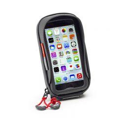 Givi älypuhelin/GPS tasku Iphone 6, Galaxy A5 ohjaustanko kiinnityksellä