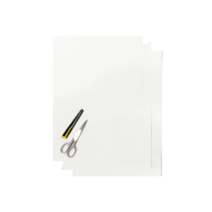 Blackbird Numerokilven tarra-arkki valkoinen 47x33cm (3kpl)