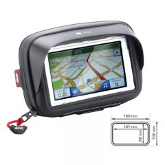 Givi älypuhelin/GPS tasku Iphone 6 ohjaustanko kiinnityksellä