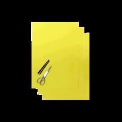 Blackbird Numerokilven tarra-arkki keltainen 47x33cm (3kpl)