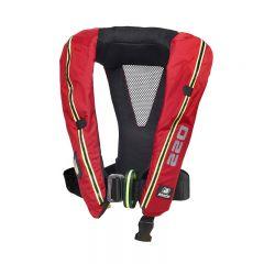 *Baltic Legend 220 Hammar auto harness ilmatäytteinen pelastusliivi pun 40-140kg