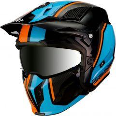 MT Streetfighter SV kypärä, Twin A4 musta/oranssi/sininen